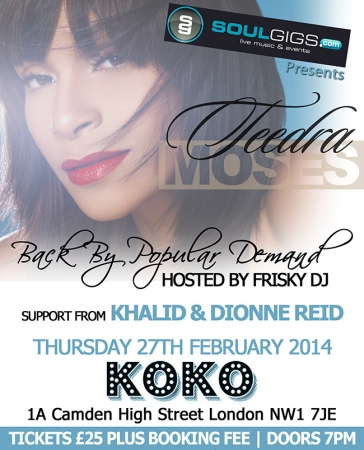 Teedra Moses at Koko 27-02-14 Flyer (1)