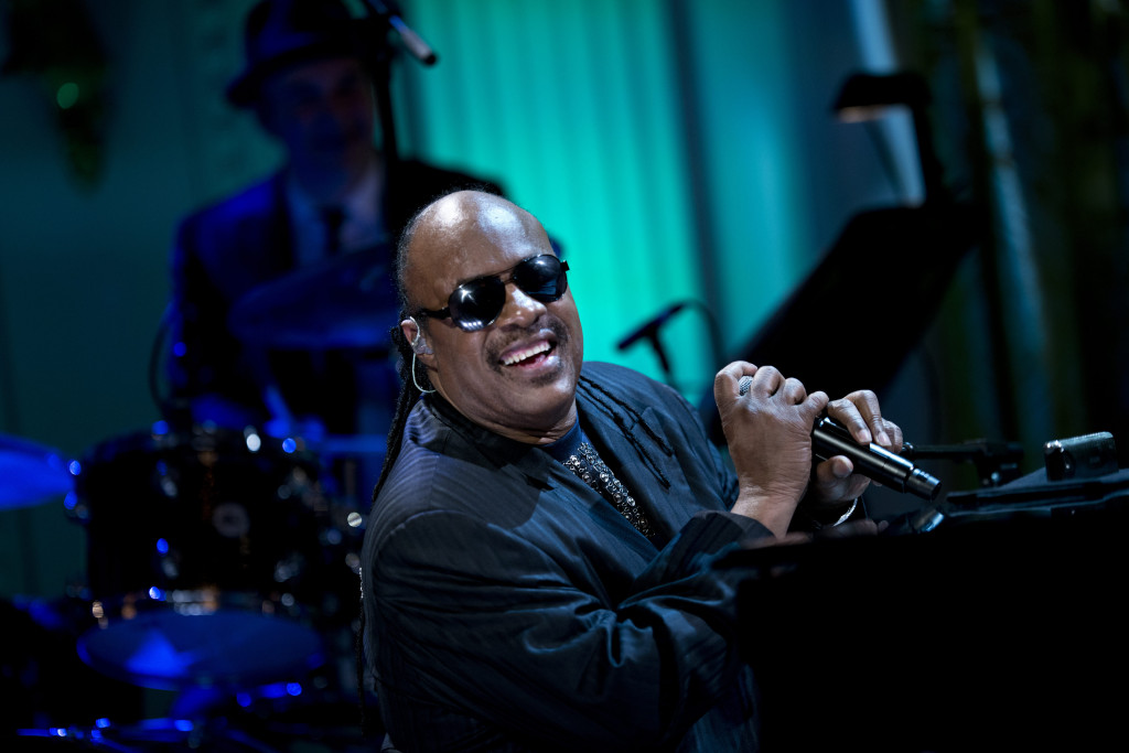 Musical artist Stevie Wonder performs du