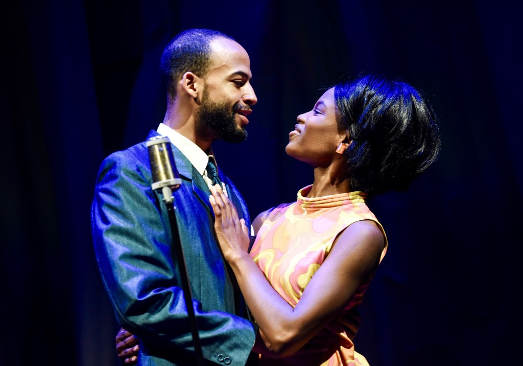 Nathan Ives-Moiba as Marvin Gaye and Abiona Omonua as Tammi Terrell in Soul credit Robert Day.jpg