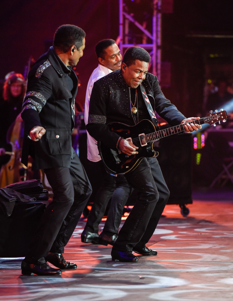 The Jacksons perform live at BBC Proms in the Park at Hyde Park in London