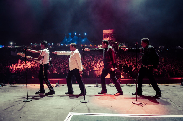 The Jacksons perform live at Bestival, Isle of Wight.