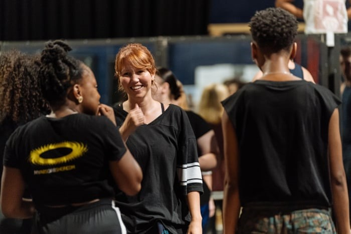 Kate Prince (centre), rehearsing with the cast of Sylvia